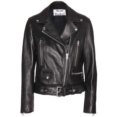 Acne Studios Mock Leather Jacket (109.735 RUB) ❤ liked on Polyvore featuring outerwear, jackets, acne, black, 100 leather jacket, acne studios, real leather jackets, genuine leather jackets and acne studios jacket