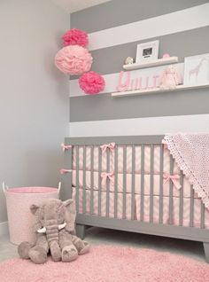 Baby girl nursery ideas nursery a softly modern chic nursery with touches of grey pink and . Baby Nursery Themes, Chic Nursery, Nursery Room, Nursery Ideas, Bedroom Ideas, Nurseries Baby, Bedroom Decor, Nursery Furniture, Bedroom Themes