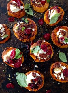 sweet potato rounds with goat cheese appetizer sweet potato rounds ...