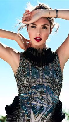 """miss-mandy-m: """"Wonder Woman actress Gal Gadot in a Falguni & Shane Peacock dress photographed by Angelo Kritikos for Bello magazine, June """" Fast And Furious, Furious 6, Gal Gadot Model, Gal Gadot News, Fierce, Gal Gabot, Gal Gadot Wonder Woman, Peacock Dress, Woman Crush"""