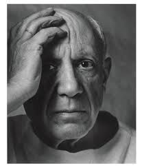 Pablo Picasso, portrait by Arnold Newman. I find this telling; he is shown half … Pablo Picasso, portrait by Arnold Newman. I find this telling; he is shown half in light, half in shade. His hand position and frown lines imply his inner turmoil. Pablo Picasso, Picasso Art, Picasso Images, Picasso Prints, Foto Portrait, Portrait Photography, Photography Gallery, Portrait Art, Famous Artists