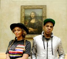 Bey + Jay (+ Mona Lisa) - I love black love!!!! I declare I will take my own pic like this with my love one day.