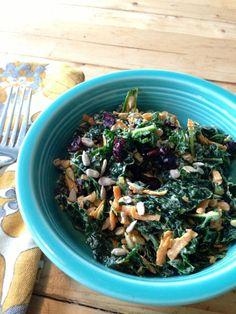 kale salad with sweet tahini dressing - BeginWithin Nutrition
