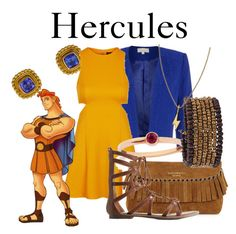"""""""Hercules"""" by disneyandsuch ❤ liked on Polyvore featuring Reinstein/Ross, Topshop, Maiko Nagayama, Burberry, Charlotte Russe, Cocobelle, Twig, disney, hercules and WhereIsMySuperSuit"""