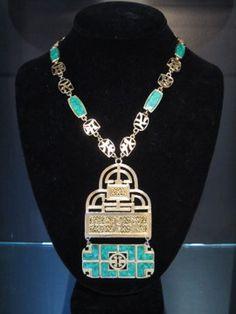 Vintage 80s Signed Givenchy Medallion Necklace