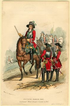 British;4th Horse(Later to become 3rd Dragoon Guards in 1746) 1687 by T.Payford