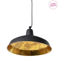 Confident Form Gold Lined Pendant Light, French Bedroom Company