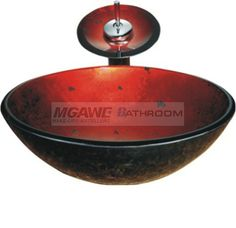 glass sink with tap for your bathroom, cheap price, MGAWE BATHROOM