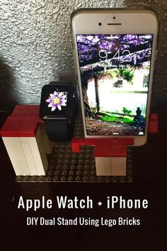 Made an Apple Watch & iPhone Dual Stand using @lego bricks.