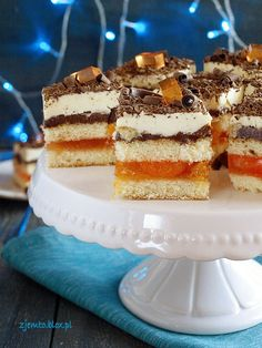 Delicja świąteczna Polish Recipes, Dessert Bread, Something Sweet, Cake Cookies, Vanilla Cake, Frappuccino, Food And Drink, Cooking Recipes, Sweets