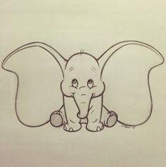 My Disney drawing – One of the cutest Disney characters! The post My Disney drawing – One of the cutest Disney characters! appeared first on Woman Casual - Drawing Ideas Cute Drawings Tumblr, Cute Easy Drawings, Cute Disney Drawings, Disney Sketches, Art Drawings Sketches, Drawing Disney, Sketch Drawing, Dumbo Drawing, Disney Pencil Drawings