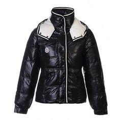 Moncler Bady Women Jacket Fitted Puffer Hood Black BJ130394