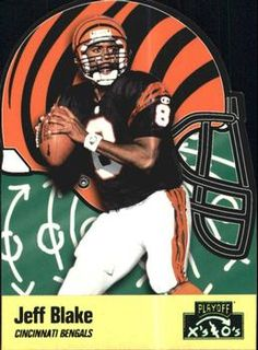 1996 Playoff Prime - X's and O's #159 Jeff Blake Front