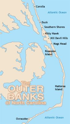 Outer Banks Map ~ have stayed everywhere from South Nags Head on up to Corolla