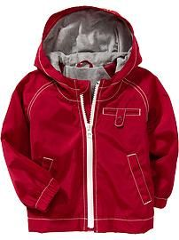 Jersey-Lined Anoraks for Baby
