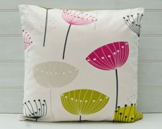 Seed Head Cushion Cover throw pillow cover Pink by GreenCallow