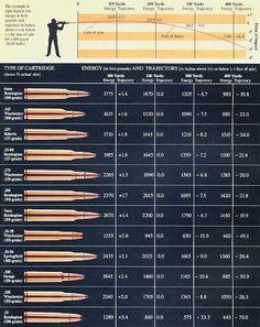 Ammo and Gun Collector: Comparison Of Popular Hunting Rifle Ammo Calibers... Interesting comparison