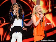 """Hollie and Jessica perform """"Eternal Flame"""" by the Bangles at the Top 4 performance show."""