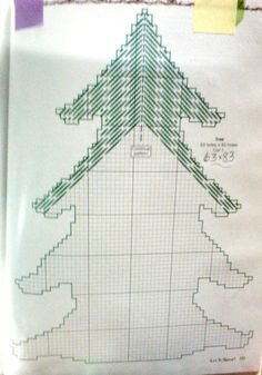 Counting tree pattern plastic canvas 3-6