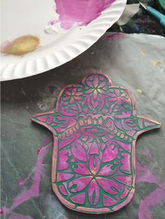 Polymer Clay Mandala made with StencilGirl stencils. Project by Laurie Mika.