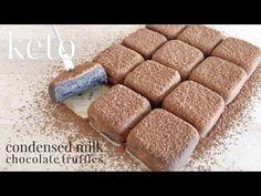 Keto Condensed Milk Chocolate Truffles - YouTube No Carb Snacks, Keto Snacks, Keto Desserts, Keto Chocolate Cake, Chocolate Truffles, Keto Candy, Candy Making, Condensed Milk, Coconut Cream