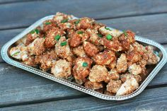 Parmesan-almond crusted chicken bites. Crunchy and flavorful and chicken nugget-ish. Kids will love these! Please repin.