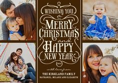 Embellished Greeting - Christmas Cards in Truffle or Ruby | Sarah Hawkins Designs