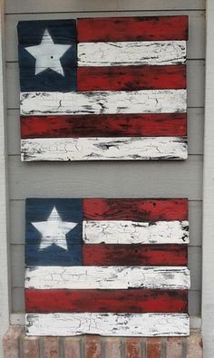 Recycled wood art. From old fence boards. Crackle paint trick I picked up from Pintrest.