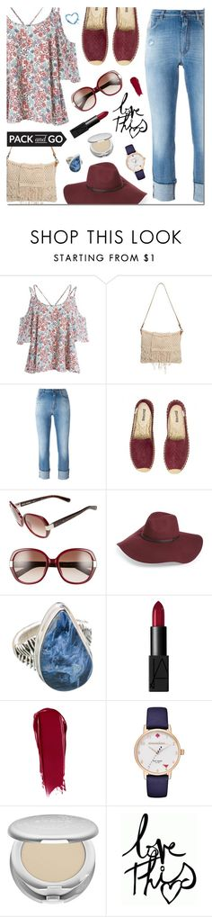 """Pack and Go: LABOR DAY"" by sjkdesign ❤ liked on Polyvore featuring Dolce&Gabbana, Bobbi Brown Cosmetics, NARS Cosmetics, Kate Spade, Stila, Packandgo, laborday and LaborDayWeekend"