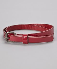 Take a look at this Magenta Skinny Belt by Delightfully Preppy Kids on #zulily today!