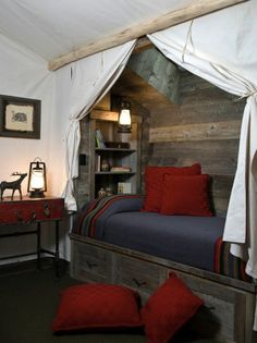 Awesome camping bedroom