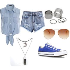 Featuring fashion style Converse Pieces Tommy Hilfiger