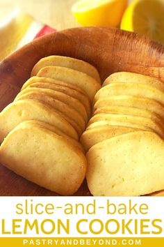 Could You Eat Pizza With Sort Two Diabetic Issues? Lemon Slice-And-Bake Cookies-These Delicious Homemade Lemon Slice-And-Bake Cookies Are Very Light And Easy To Make If You Are A Lemon Lover, You Should Try These From Scratch Lemon Cookies. Cookie Recipes From Scratch, Easy Cookie Recipes, Baking Recipes, Dessert Recipes, Lemon Recipes Easy, Delicious Recipes, Short Bread, Lemon Slice, Homemade Cookies