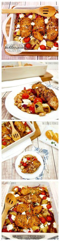 Balsamic Glazed Mediterranean Chicken Bake - The Cookie Rookie
