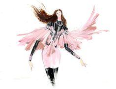 Illustration.Files: Balmain F/W 2016 Fashion Illustration by Renshou Zhang