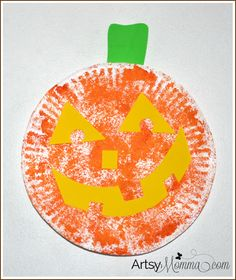 Paper Plate Pumpkin - Jack-o-lantern Craft for Kids