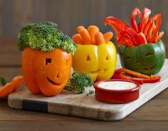 Edible Halloween Craft: Ranch-O-Lantern Platter