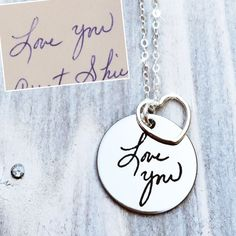 Custom Handwriting SHINE! Love these for Mother's Day gifts.