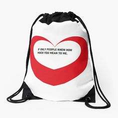 'Valentine day heart gifts' Drawstring Bag by CthroughMYeyes