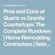 Pros And Cons Of Quartz Vs Granite Countertops: The Complete Rundown
