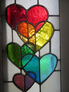Stained glass hearts suncatcher https://www.etsy.com/uk/listing/267100988/rainbow-love-stunning-stained-glass