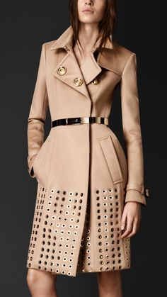 Embellished Cashmere Trench Coat | Burberry Prorsum AW2013
