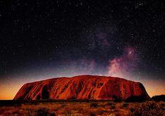 Starry Night at Ayers Rock, Australia Tobias, Night Photography, Landscape Photography, Ayers Rock Australia, Art Terms, Land Of Oz, Night Photos, Learn To Paint, Australia Travel