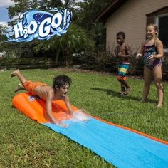 H2O Go Water Slide, Single Lane, Blue