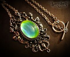 Angels Mood Necklace // Mood Jewelry // Mood Ring // by horribell, $23.00