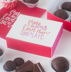 Need a last-minute Valentine's Day gift? Print off this free chocolate box template for a quick, easy, and homemade treat for that special someone!