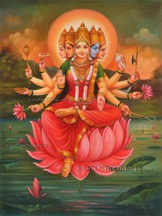 Goddess Gayatri during Twilight