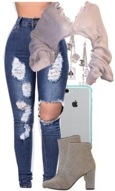 Boujee Outfits, Baddie Outfits Casual, Swag Outfits For Girls, Teenage Girl Outfits, Cute Swag Outfits, Cute Comfy Outfits, Teen Fashion Outfits, Simple Outfits, Polyvore Outfits
