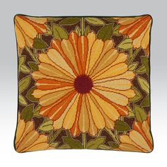 "Marigolds - Ehrman Tapestry. By Raymond Honeyman. 17.5"" x 17.5"". 45 cm x 45 cm. 12 holes to the inch. Ehrman wools."