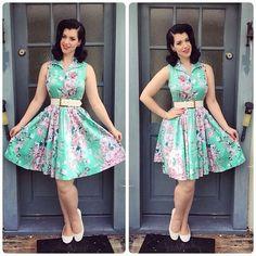 Green Floral Dream Flare Dress #uvdarlings